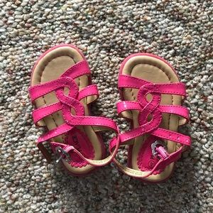 Pink baby girl sandals size 4